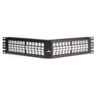 Leviton 48-Port Angled Patch Panel - 49256-H48