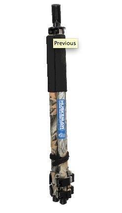 Huskemaw Prone Shooting Stick, Black, 20HPR