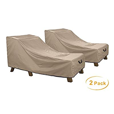 ULTCOVER Waterproof Patio Lounge Chair Cover Heavy Duty Outdoor Chaise Lounge Covers 2 Pack