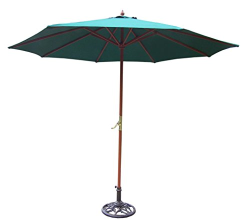 Oakland Living 9-Feet Umbrella and Stand, Green