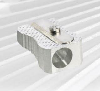 Caja de 20, sacapuntas metálico simple. En forma de cuña. Cuchilla sólida. Guiado preciso del lápiz.: Amazon.es: Oficina y papelería