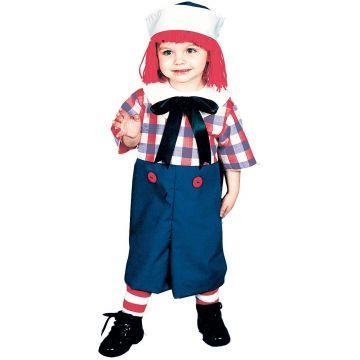 Raggedy Ann Toddler Costume (Raggedy Andy Costume - Toddler Costume 2T-4T)