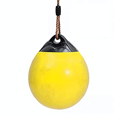 ROCK1ON Kids Buoy Ball Swings Toy Outdoor Hanging Swings for Kids to Adults 260 lbs Weight Capacity Swing Seat with Adjustable PE Rope for Tree Indoor Playground Background: Sports & Outdoors