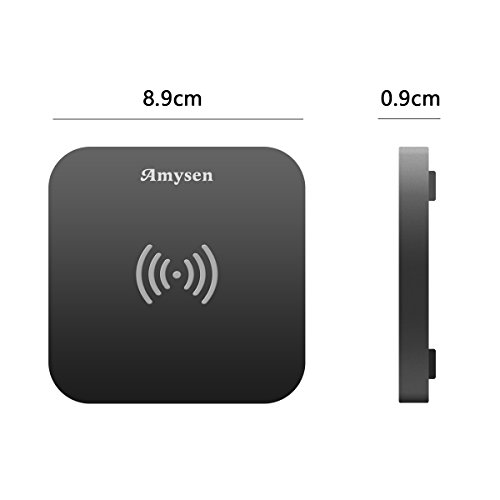 Wireless Charger, Ultra Slim Wireless Charging Pad with Anti-Slip Rubber for iPhone X iPhone8/8 Plus Samsung Galaxy Note 8 S8 S8 Plug S7 S7 Edge and Qi-Enable Devices (No AC Adapter) by Esicoo (Image #4)