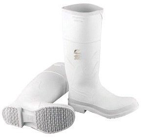 White 09 Industries Safety Shoe Outsole Steel 81012 Lock Bata Size and Kneeboots PVC Toe with Onguard 16