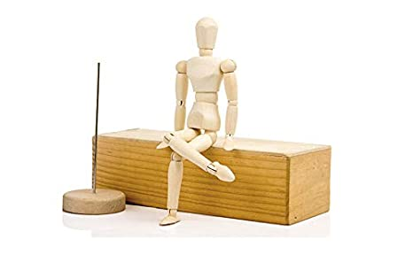 Artist Paint Sketch Drawing Model Wooden Human Manikin Jointed Mannequin Movable Limbs Doll (12 inch) Btysmile