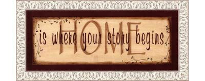 出産祝い Home Is x Where Your Story LE_211541-F9711-20x8 – Begins by Kim Klassen – 20 x 8インチ – アートプリントポスター LE_211541-F9711-20x8 Ornate White Frame B01NH9XNNV, タオルと布団のお店 【ふわりら】:c7c6f639 --- a0267596.xsph.ru