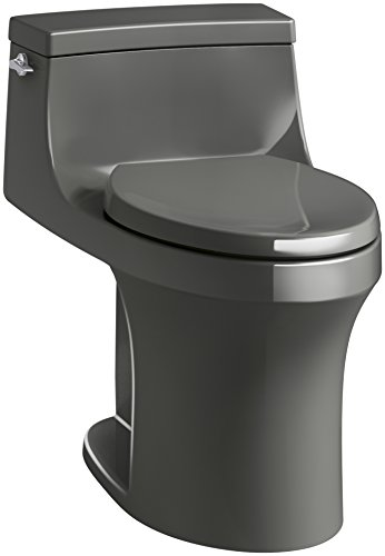 KOHLER K-5172-58 San Souci Comfort Height Compact Elongated 1.28 GPF Toilet with Aqua Piston Flushing Technology and Left-Hand Trip Lever