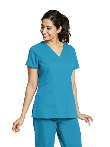 (Grey's Anatomy 41452 V-Neck Top Blue Tonic L)