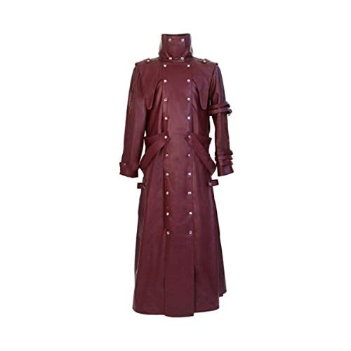 III-Fashions VASH The Stampede Trigun Maroon Cosplay Costume Trench Leather Coat
