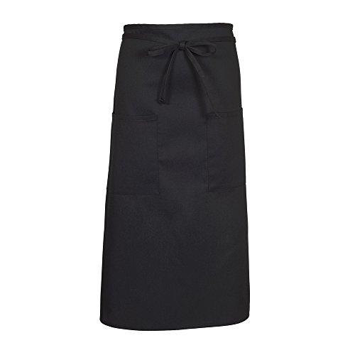 Fame Adult's Two Pocket Long Bistro Apron-Black-O/S -