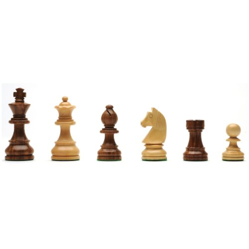 WE Games Classic Staunton Chessmen - Weighted & Handpolished Wood with 3.75 in. King by Wood Expressions