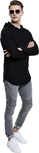 7 À Urban Shaped Homme Sweat Hoody Noir Terry Classics Long nbsp;capuche EwwfqrvY