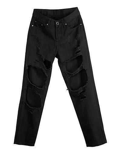 Navy uni Pantalon en YFLTZ Blue Slim pour Jean Femme x04WvYwq
