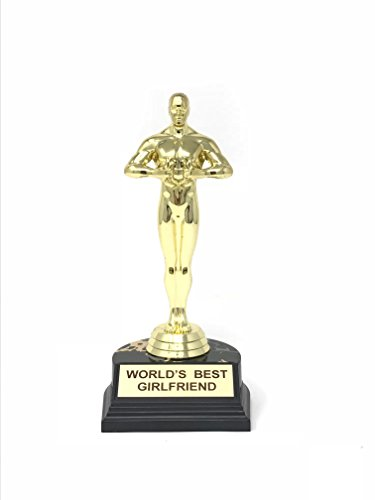 Aahs Engraving World's Best Trophy, 7 or 10.5 Inches (World's Best Girlfriend (7 inches))