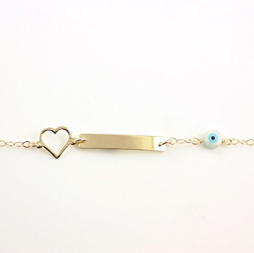 Baby jewelry 14K gold ID bracelet for children newborn gold