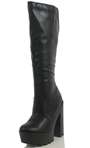 High Knee Black Heel Lust Chunky Lust Have Boots Have Dress qwCUTCRx