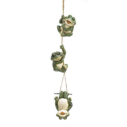 Koehler 38813 30.25 inch Frolicking Frogs Hanging Decoration