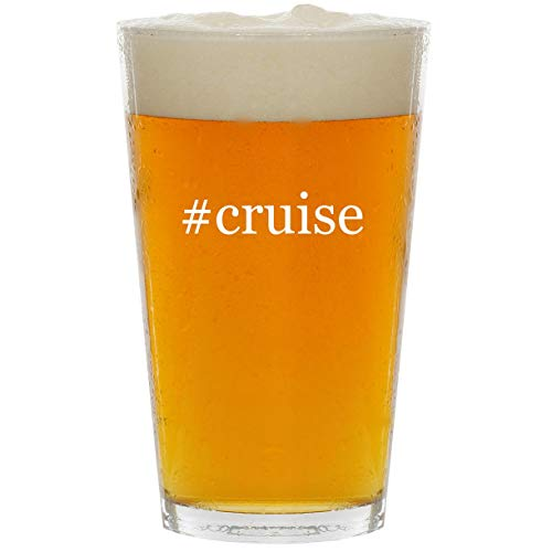#cruise - Glass Hashtag 16oz Beer Pint (Best Cruise Line For Panama Canal)