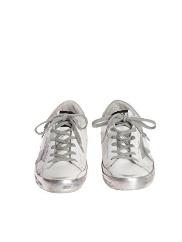 Golden Goose Sneakers Donna GCOWS590E36 Pelle Argento/Bianco