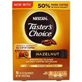 Nescafé, Taster's Choice, Instant Coffee Beverage, Hazelnut, 16 Packets, 0.1 oz (3 g) Each - -