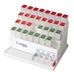 MedCenter 31 Day Pill Organizer