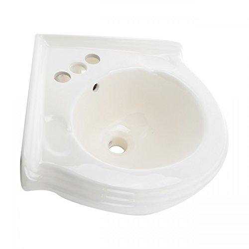 Cheap  Corner Wall Mount Sink Bathroom Bone Vitreous China EZ Clean Scratch And..