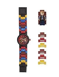 LEGO Watches and Clocks Boy's 'Jurassic World Owen' Quartz Plastic Watch, Color:Red(Model: 8021261)