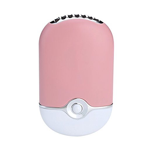Mini Portable Hand Held Desk Air Conditioner Humidification Cooler Cooling Fan Pink by FSHI