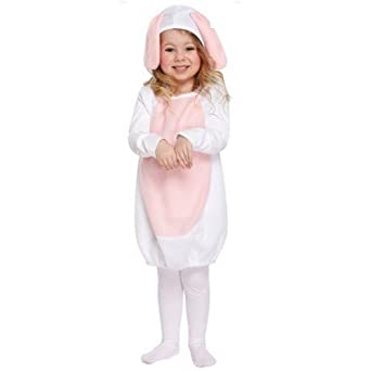 Girls White Rabbit Easter Bunny Alice Book Week Fancy Dress Costume Outfit 3 yrs