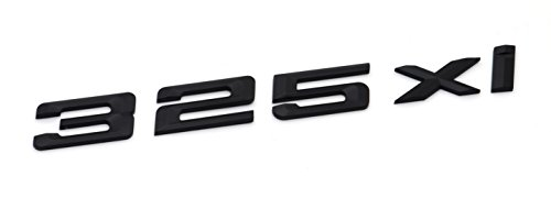 325Xi Matte Black Trunk Lid Car Rear Badge Emblem Decal Number Letter for BMW 3 Series E90 E92 E93
