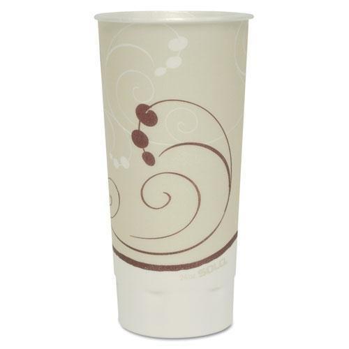 SOLO Cup Company Symphony Trophy Plus Dual Temperature Cups, 24 oz, Beige, 600/Carton SCCXN246SYM