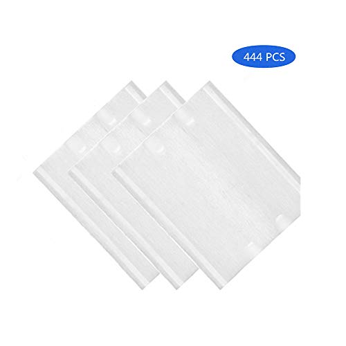 Cotton Pads(Square)-Makeup Remover & Daily Cosmetics Pads-Hypoallergenic Lint Free 100% Pure Natural Cotton Pads-Beauty and Personal Care-Biodegradable Cotton (2PACK(444PCS)) ()