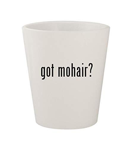 got mohair? - Ceramic White 1.5oz Shot Glass