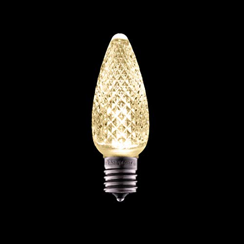 Holiday Lighting Outlet Faceted C9 Christmas Lights | Sun Warm White LED Light Bulbs Holiday Decoration | Warm Christmas Decor for Indoor & Outdoor Use | 3 SMD LEDs in Each Light Bulb | Set of 500
