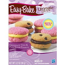 Easy Bake 5000 Ultimate Oven Chocolate Chip & Pink Sugar Cookies Refill Pack Playset ()
