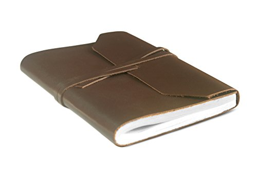 - Versatile : Use in The Conference Room or Kitchen. Handmade Genuine Leather Journal (Not Distressed), Travel Diary, Scribble, Recipe Book with Wrap Tie Closure (Chocolate Brown 6x8)