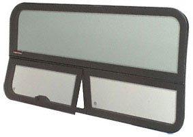 """CRL 2007+ All Glass Look Sprinter Van T-Vent Passenger Side Rear Quarter Panel Window for 170"""" Wheel Base Van"""