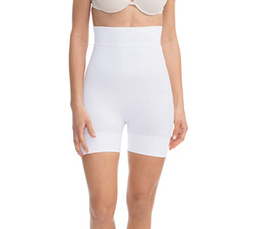 FarmaCell Women's Tummy & Thigh Slimming High Waist Shorts - Breathable Discreet Shapewear with Lifting and Smoothing Effect - 602 White
