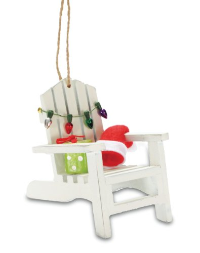 Tropical Beach Adirondack Chair Christmas Tree Ornament