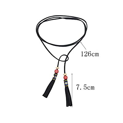 Long Tassels Bowknot Leather Rope Necklace,Ethnic Style Multi-storey Sweater Chain Choker Necklace for Women Girls Party Gifts