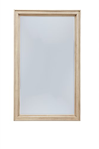 Ashley Furniture Signature Design - Demarlos Mirror - Beveled - Component Piece - Vintage Casual - Parchment White - FLOOR STANDING MIRROR: Have a penchant for simple beauty? Then this framed mirror is right up your alley. Lightly distressed, it adds vintage-inspired allure wherever it's placed HANDSOMELY CRAFTED: Made of veneers, wood and engineered wood with a beveled mirror DECORATIVE FLAIR: Bathed in a light hue, this mirror is easy to match, and even easier to rearrange when the mood strikes - mirrors-bedroom-decor, bedroom-decor, bedroom - 31Tpn9p2OpL -