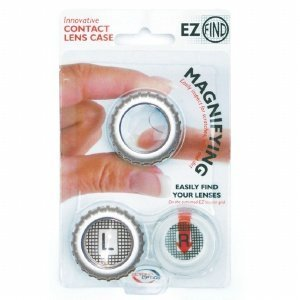 EZFIND MAGNIFYING INNOVATIVE CONTACT LENS CASE - EASILY FIND YOUR LENSES