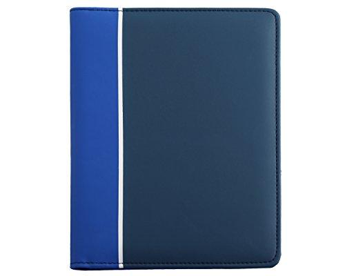 (Tonal Junior Writing Padfolio and Personal Organizer with Bonus Pad Royal Blue)