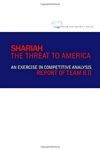 Download Shariah: The Threat To America: An Exercise In Competitive Analysis (Report of Team B II) by Boykin, William J, Soyster, Harry Edward, Cooper, Henry, Cou (2010) PDF