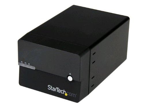 StarTech.com Dual Bay Gigabit NAS RAID Enclosure for 3.5-Inch SATA Hard Drives with WebDAV and Media Server (S352BMU3N)