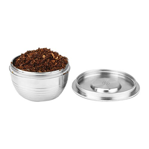 Maikouhai Stainless Steel Coffee Filter Make Reusable Coffee Capsule Make For UCC - Mouth Width 47 mm, High 24 mm, Capacity 10-15ml ()
