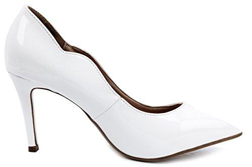 Tacchi Classico Bianco Chiusa AgeeMi A Punta Alti Eleganti Scarpe Donna Shoes Donna P8PwUxE7