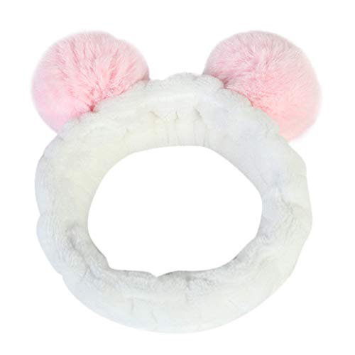 UROSA Women Fluffy Elastic Hairband Band Panda Ear