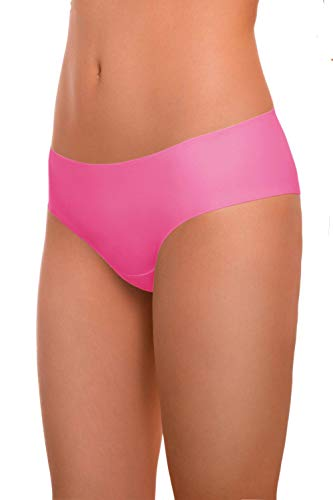 (ARGOCLASSIC Seamless Panties Underwear with Quick Dry Technology (M, Violet Pink))
